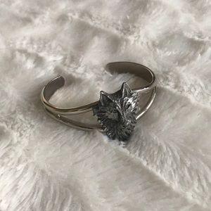 Jewelry - Silver Wolf Head Bracelet